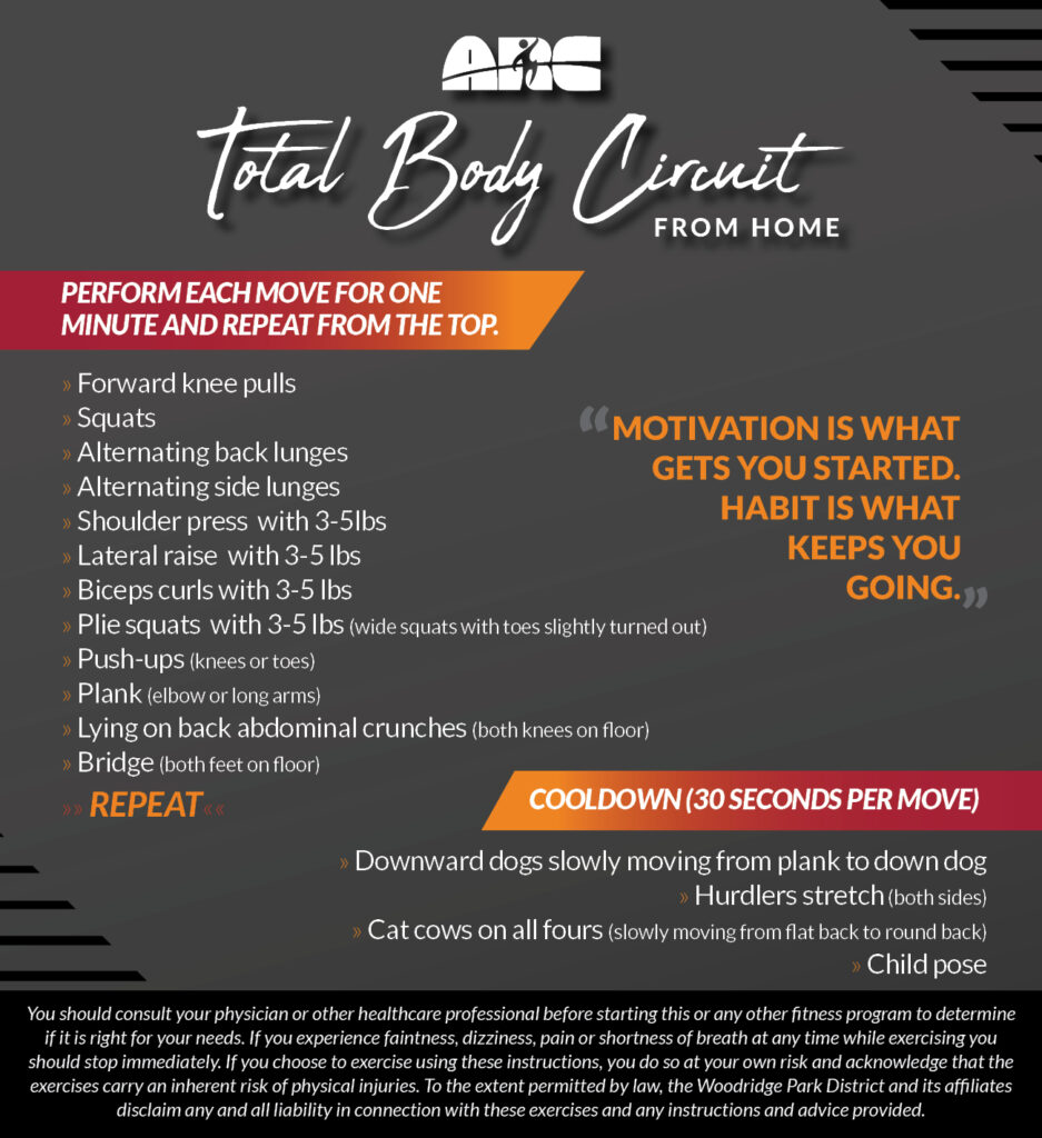 Workout From Home - Total Body Circuit